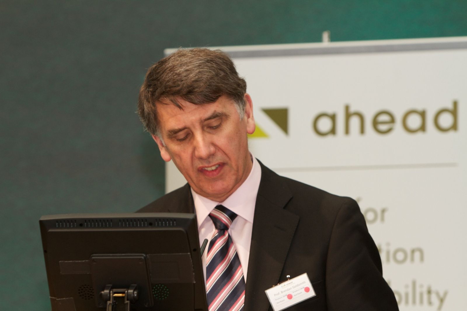 Prof. Brendan Goldsmith opens the AHEAD Conference 2014