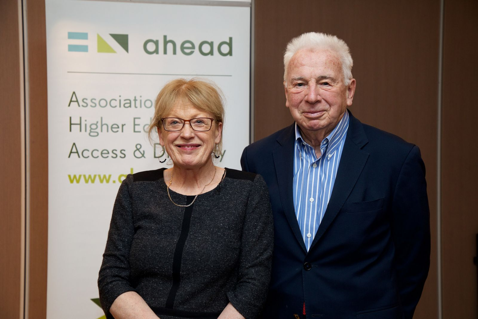 Prof. John Kelly with current AHEAD Executive Director Ann Heelan