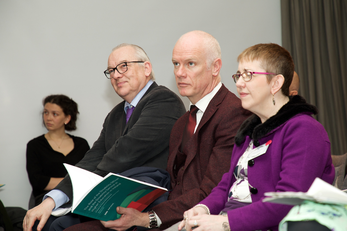 From L-R: Prof. Michael Shevlin (Chairperson of AHEAD), Dr.Graham Love and Dr. Patricia McCarthy