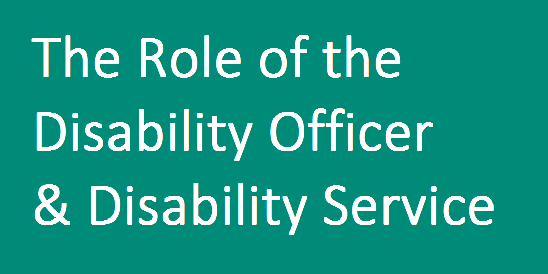 Launch of The Role of the Disability Officer and Disability Service