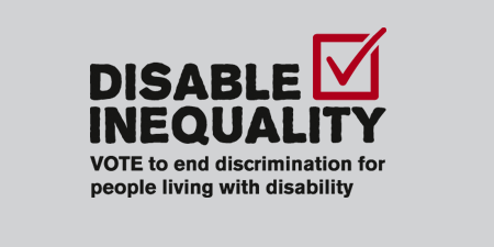 AHEAD Endorses the Disable Inequality Election Campaign